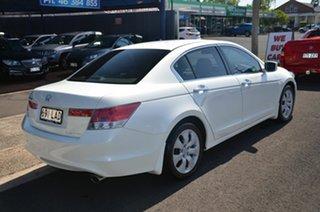 2008 Honda Accord 50 VTi Luxury White 5 Speed Automatic Sedan.