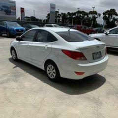 2015 Hyundai Accent RB2 MY15 Active White 6 Speed Manual Sedan