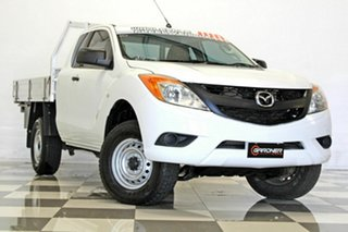 2014 Mazda BT-50 MY13 XT Hi-Rider (4x2) White 6 Speed Manual Freestyle Cab Chassis.