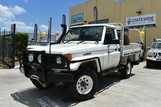 1994 Toyota Landcruiser HZJ75RP (4x4) White 5 Speed Manual 4x4 Cab Chassis.