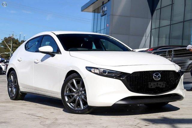 New Mazda 3 BP2H7A G20 SKYACTIV-Drive Touring Waitara, 2020 Mazda 3 BP2H7A G20 SKYACTIV-Drive Touring White 6 Speed Sports Automatic Hatchback