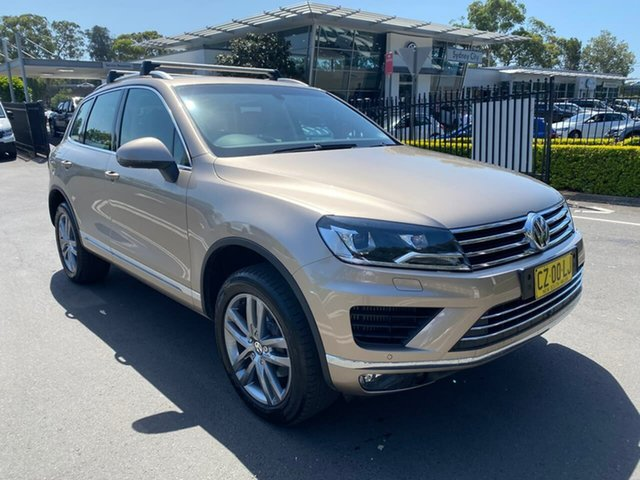Used Volkswagen Touareg 7P MY17 V6 TDI Tiptronic 4MOTION Adventure Botany, 2017 Volkswagen Touareg 7P MY17 V6 TDI Tiptronic 4MOTION Adventure Gold 8 Speed Sports Automatic