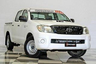 2010 Toyota Hilux KUN16R MY11 Upgrade SR White 5 Speed Manual Dual Cab Pick-up.