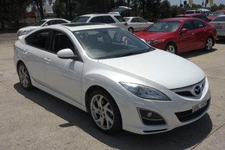 2011 Mazda 6 GH1052 MY10 Luxury White 5 Speed Sports Automatic Sedan.