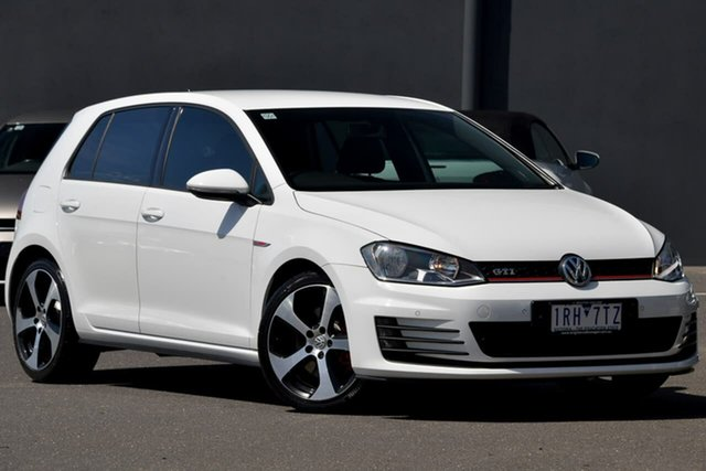 Used Volkswagen Golf VII MY15 GTI DSG Moorabbin, 2015 Volkswagen Golf VII MY15 GTI DSG White 6 Speed Sports Automatic Dual Clutch Hatchback