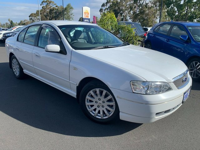 Used Ford Fairmont BA Bunbury, 2002 Ford Fairmont BA White 4 Speed Automatic Sedan