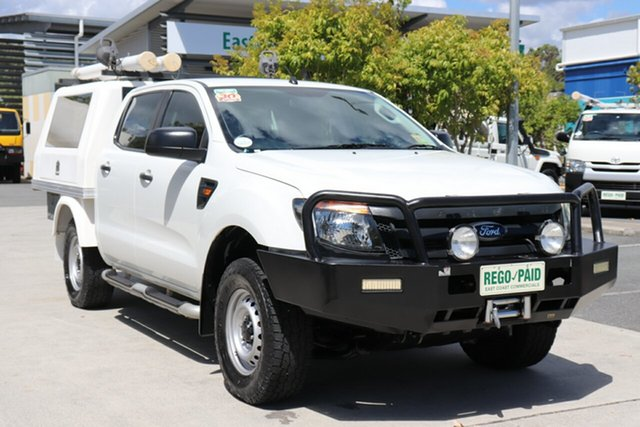 Used Ford Ranger PX XL Robina, 2013 Ford Ranger PX XL White 6 speed Automatic Cab Chassis