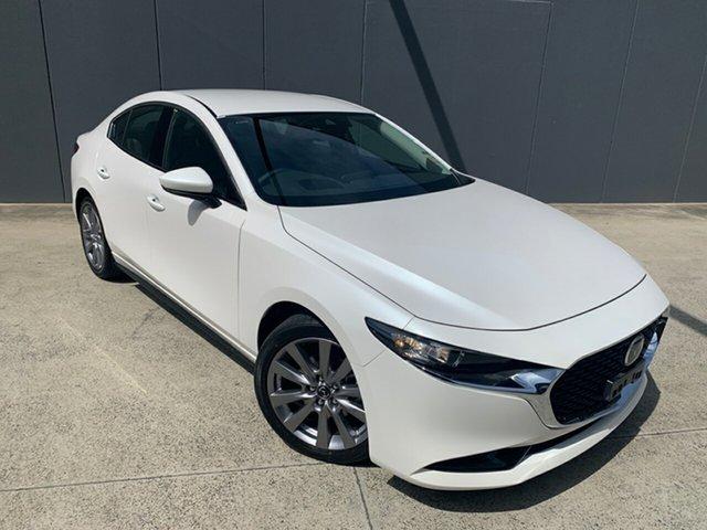 New Mazda 3 BP2SLA G25 SKYACTIV-Drive GT Alexandria, 2020 Mazda 3 BP2SLA G25 SKYACTIV-Drive GT Snowflake White 6 Speed Sports Automatic Sedan