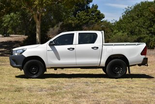 2015 Toyota Hilux GUN125R Workmate Double Cab White 6 Speed Manual Utility
