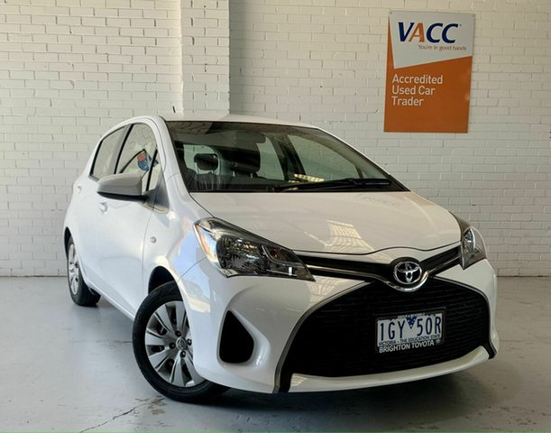 Used Toyota Yaris NCP130R Ascent Moorabbin, 2016 Toyota Yaris NCP130R Ascent White 4 Speed Automatic Hatchback