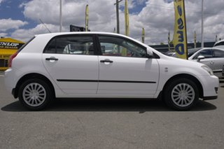 2005 Toyota Corolla ZZE122R 5Y Ascent Glacier White 4 Speed Automatic Hatchback