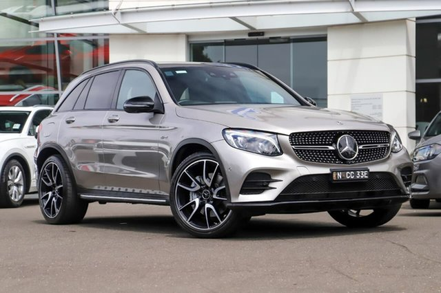 Used Mercedes-Benz GLC-Class X253 808MY GLC43 AMG 9G-Tronic 4MATIC Sutherland, 2018 Mercedes-Benz GLC-Class X253 808MY GLC43 AMG 9G-Tronic 4MATIC Silver, Chrome 9 Speed