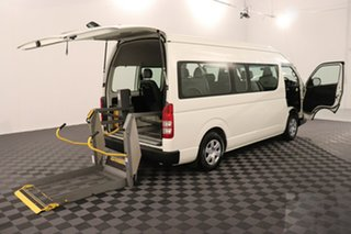 2011 Toyota HiAce TRH223R MY11 Commuter High Roof Super LWB French Vanilla 4 speed Automatic Bus