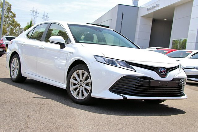 Pre-Owned Toyota Camry AXVH71R Ascent South Morang, 2019 Toyota Camry AXVH71R Ascent White 6 Speed Constant Variable Sedan Hybrid