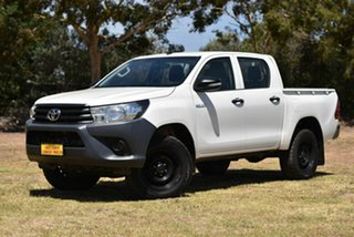 2015 Toyota Hilux GUN125R Workmate Double Cab White 6 Speed Manual Utility.
