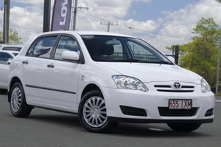 2005 Toyota Corolla ZZE122R 5Y Ascent Glacier White 4 Speed Automatic Hatchback.