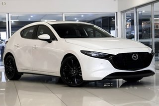 2020 Mazda 3 BP2HLA G25 SKYACTIV-Drive Astina White 6 Speed Sports Automatic Hatchback.
