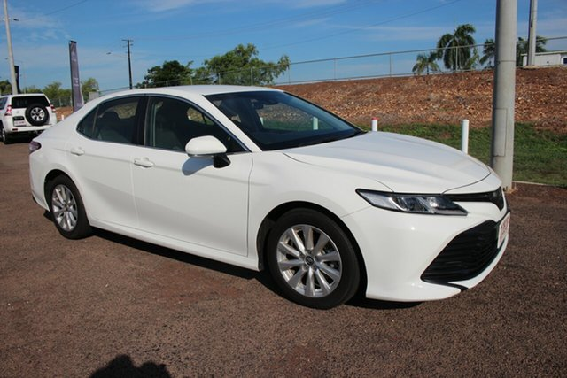 Pre-Owned Toyota Camry ASV70R Ascent Darwin, 2018 Toyota Camry ASV70R Ascent Glacier White 6 Speed Automatic Sedan