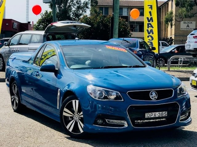 Used Holden Ute VF MY14 SS Ute Storm Liverpool, 2014 Holden Ute VF MY14 SS Ute Storm Blue 6 Speed Sports Automatic Utility