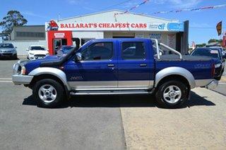 2009 Nissan Navara D22 MY08 ST-R (4x4) Blue 5 Speed Manual Dual Cab Pick-up.