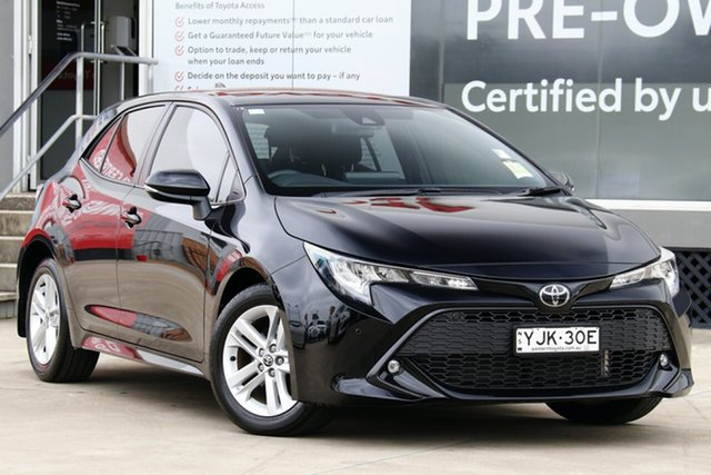 Used Toyota Corolla Mzea12R SX Guildford, 2019 Toyota Corolla Mzea12R SX Eclipse Black 10 Speed Constant Variable Hatchback