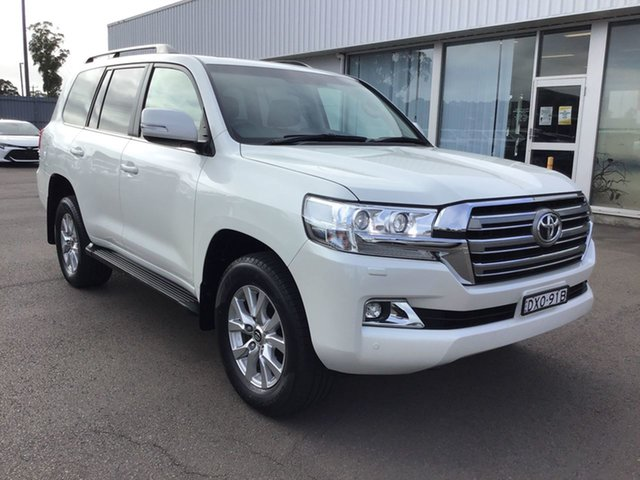 Pre-Owned Toyota Landcruiser VDJ200R VX Cardiff, 2018 Toyota Landcruiser VDJ200R VX Pearl White 6 Speed Sports Automatic Wagon