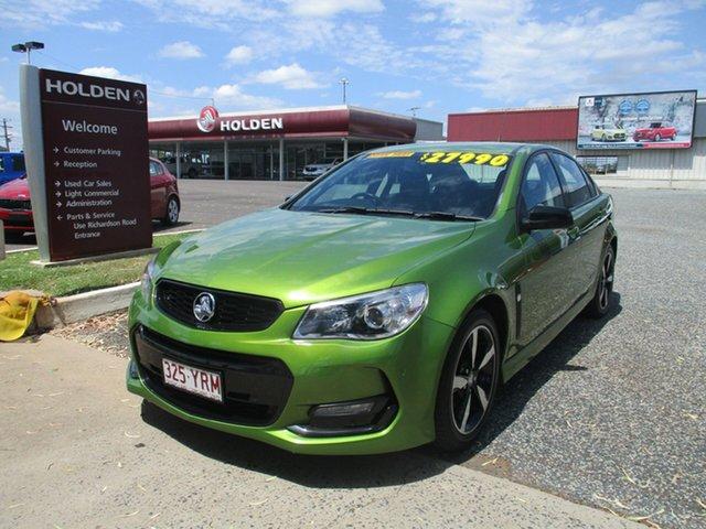 Used Holden Commodore VF II MY16 SV6 Black North Rockhampton, 2016 Holden Commodore VF II MY16 SV6 Black Green 6 Speed Sports Automatic Sedan