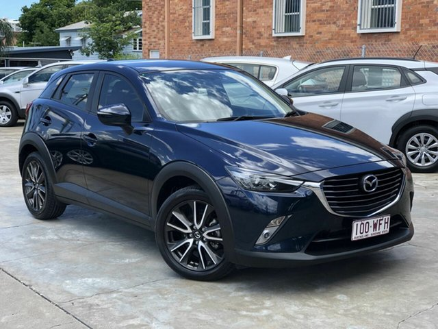 Used Mazda CX-3 DK2W7A sTouring SKYACTIV-Drive Chermside, 2015 Mazda CX-3 DK2W7A sTouring SKYACTIV-Drive Blue 6 Speed Sports Automatic Wagon