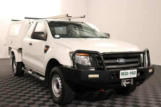 Used Ford Ranger PX XL Acacia Ridge, 2015 Ford Ranger PX XL White 6 speed Manual Cab Chassis
