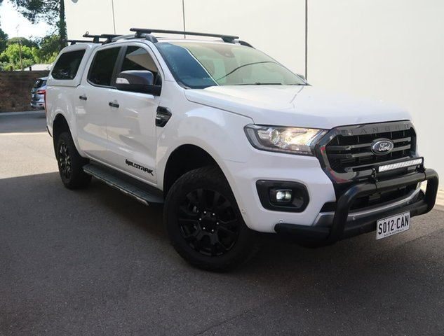 Used Ford Ranger PX MkIII 2019.00MY Wildtrak Reynella, 2019 Ford Ranger PX MkIII 2019.00MY Wildtrak White 10 Speed Sports Automatic Double Cab Pick Up