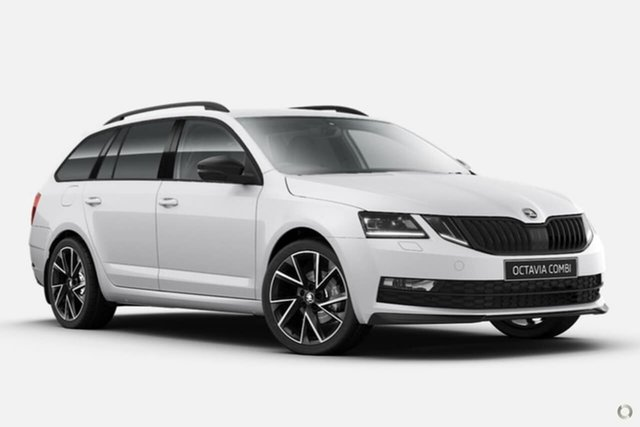 New Skoda Octavia NE MY20.5 Sport DSG 110TSI Seaford, 2020 Skoda Octavia NE MY20.5 Sport DSG 110TSI White 7 Speed Sports Automatic Dual Clutch Wagon