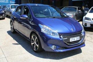 2013 Peugeot 208 Allure Blue 4 Speed Automatic Hatchback.