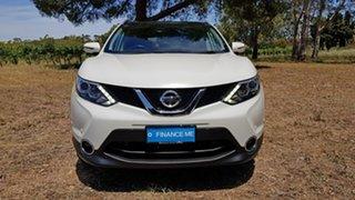 2015 Nissan Qashqai J11 TI White 1 Speed Constant Variable Wagon.