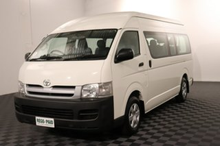 2007 Toyota HiAce TRH223R Commuter High Roof Super LWB White 4 speed Automatic Bus.