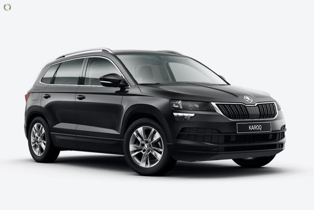 New Skoda Karoq NU MY21 110TSI FWD Seaford, 2020 Skoda Karoq NU MY21 110TSI FWD Black 8 Speed Automatic Wagon