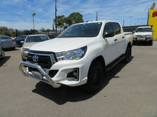 2019 Toyota Hilux GUN136R MY19 SR Hi-Rider White 6 Speed Manual Double Cab Pick Up.