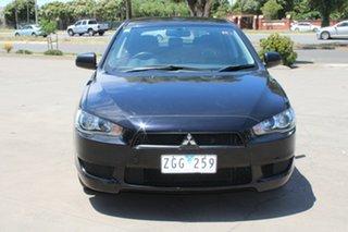 2012 Mitsubishi Lancer CJ MY12 ES Sportback Black 6 Speed CVT Auto Sequential Hatchback.