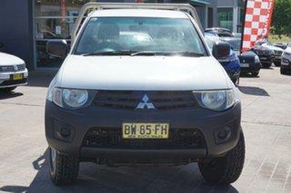 2013 Mitsubishi Triton MN MY13 GL 4x2 White 5 Speed Manual Cab Chassis.