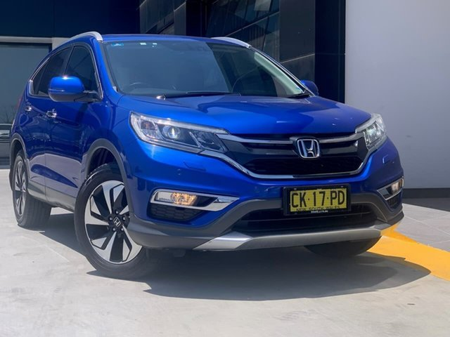Used Honda CR-V RM Series II MY17 VTi-L 4WD Liverpool, 2016 Honda CR-V RM Series II MY17 VTi-L 4WD Blue 5 Speed Sports Automatic Wagon