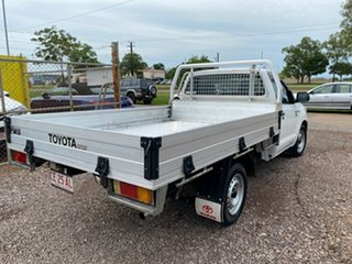 2015 Toyota Hilux TGN16R MY14 Workmate 4x2 White 5 Speed Manual Cab Chassis
