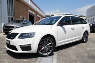 2015 Skoda Octavia NE MY15.5 RS DSG 162TSI White 6 Speed Sports Automatic Dual Clutch Wagon.