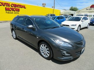 2010 Mazda 6 GH MY10 Classic Silver 5 Speed Auto Activematic Wagon.