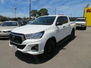 2019 Toyota Hilux GUN136R MY19 Upgrade SR Hi-Rider White 6 Speed Manual Double Cab Pick Up.