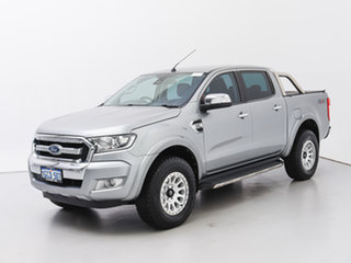 2016 Ford Ranger PX MkII MY17 XLT 3.2 (4x4) Silver 6 Speed Automatic Double Cab Pick Up.