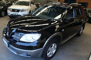 2005 Mitsubishi Outlander ZF MY06 XLS Black 4 Speed Sports Automatic Wagon.