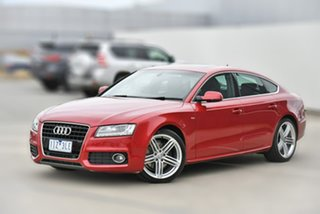2011 Audi A5 8T MY12 Sportback S Tronic Quattro Red 7 Speed Sports Automatic Dual Clutch Hatchback.