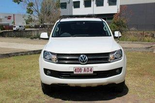 2012 Volkswagen Amarok 2H MY13 TDI400 4Mot Trendline White 6 Speed Manual Utility.
