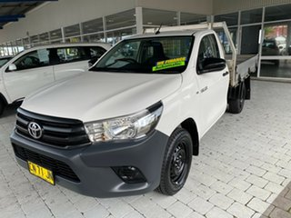 2017 Toyota Hilux Workmate White Sports Automatic Cab Chassis - Single Cab.