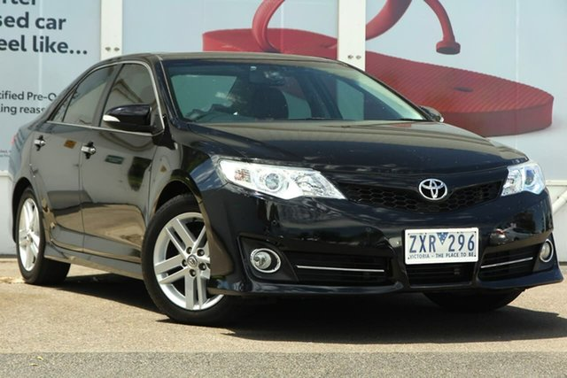 Pre-Owned Toyota Camry ASV50R Atara SL Ferntree Gully, 2013 Toyota Camry ASV50R Atara SL Black 6 Speed Sports Automatic Sedan