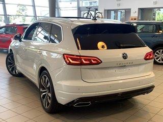 2020 Volkswagen Touareg CR MY21 V8 TDI Tiptronic 4MOTION R-Line White 8 Speed Sports Automatic Wagon.